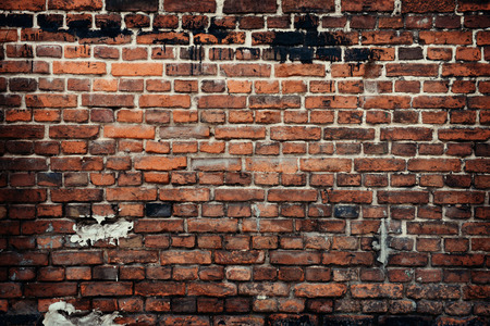the red wall: old brick wall background Stock Photo