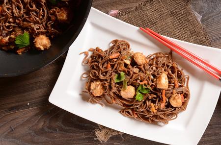 Japan Saba noedels met kip en groenten