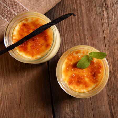 brulee: Creme brulee dessert
