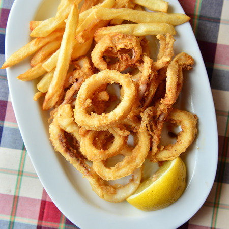 squids: squids with fries