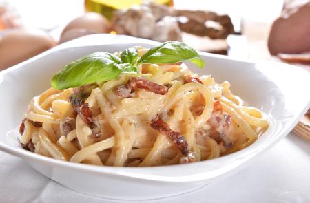 Spaghetti carbonara Imagens