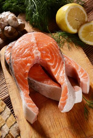 chunks: Fresh salmon chunks