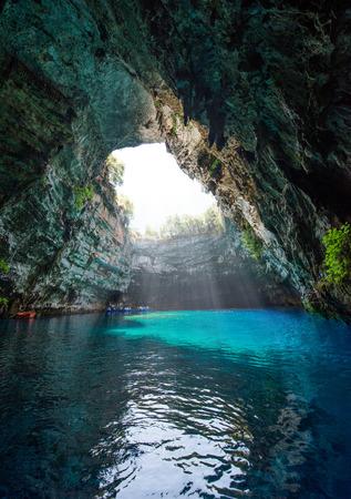 kefallonia: Famous melissani lake on Kefalonia island - Greece