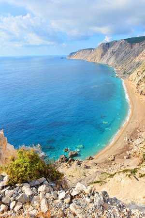 kefalinia: Famous beach Platia Ammos on Kefalonia island in Greece