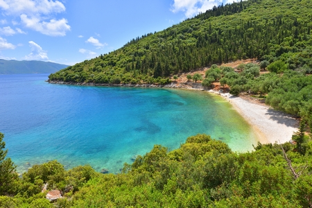 kefallonia: Horgota beach in Kefalonia island- Greece Stock Photo