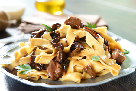 pasta sauce: Pasta with mushrooms