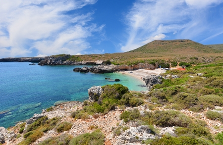 kefallonia: Greece coastline landscape Stock Photo