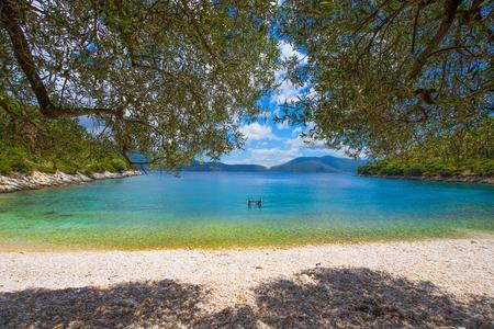 kefallonia: Famous Horgota beach on Kefalonia island in Greece.