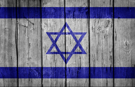 beautify: Israel flag on old wooden wall