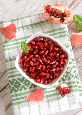 medium close up: Pomegranate Stock Photo