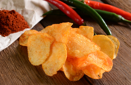 mexicana: Potato chips with hot pepper spice