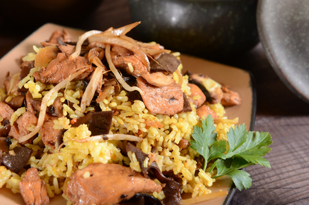 arroz chino: arroz chino Foto de archivo