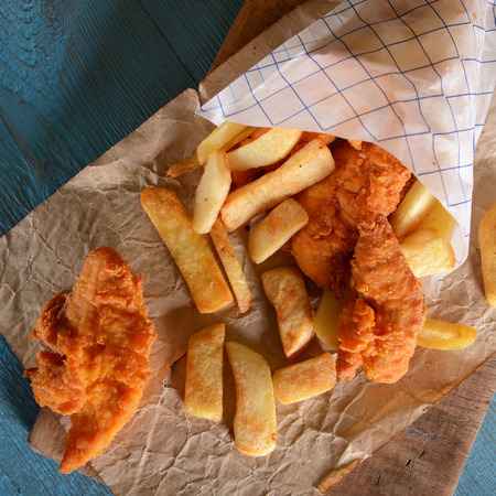 british cuisine: Fish and chips Stock Photo