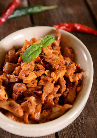 gyros: Chicken gyros with hot pepper spices Stock Photo