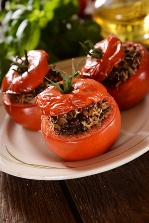 stuffed: Stuffed roasted tomatoes
