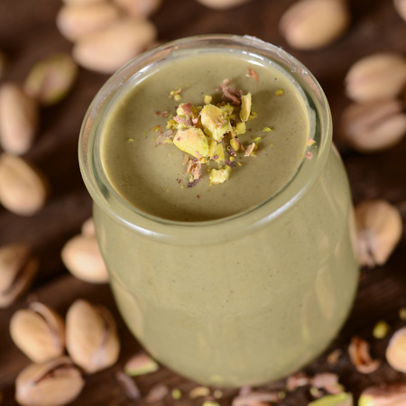 epicure: Fresh pistachios cream in small jar