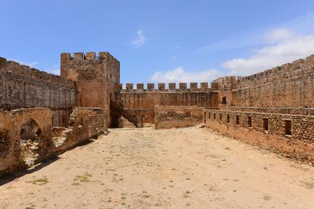 crete: Frangocastello castle, Crete, Greece Editorial