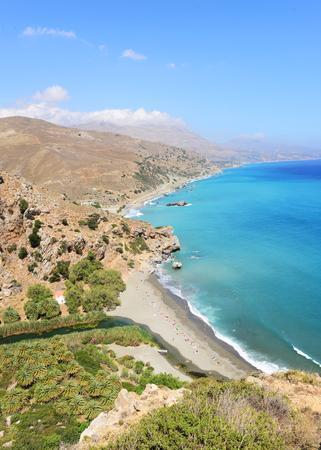 Famous Preveli beach in Crete island - Greece