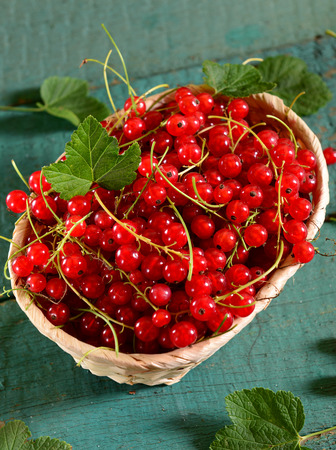 currants: Red currants basket
