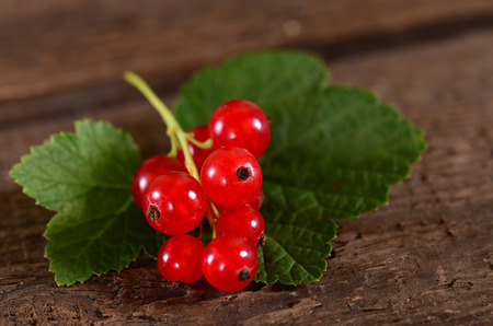 close up: Red currant close up Stock Photo