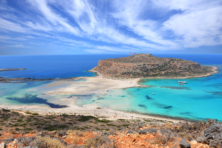 Balos lagoon on Crete island - Greece Stock Photo