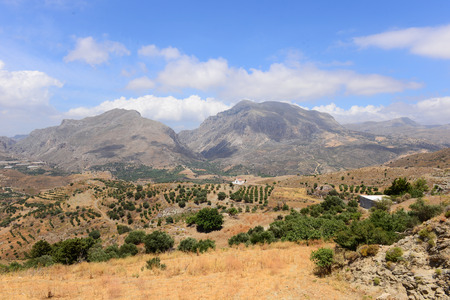 Crete mountains landscape. Greece