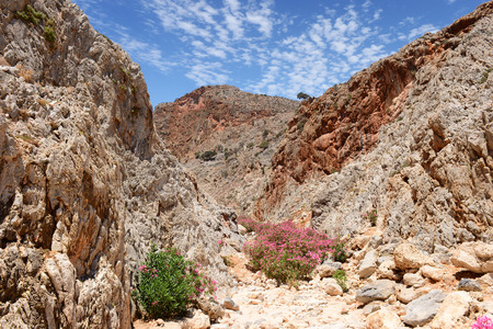 Crete mountains landscape with canyon. Greece