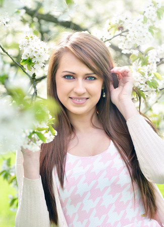 vouge: Beautiful girl portrait