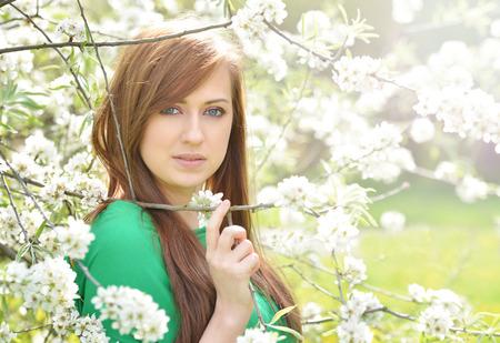 vouge: Spring portrait of beautiful brunette