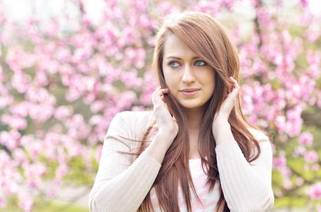 vouge: Beautiful gril - spring portrait