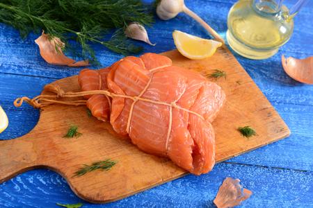 Smoked salmon loin