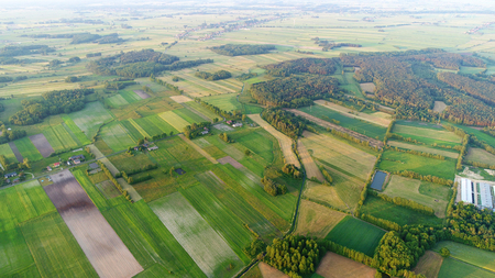 Spring aerial landscape Stock Photo