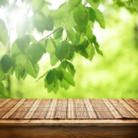 finite: Bamboo table Stock Photo