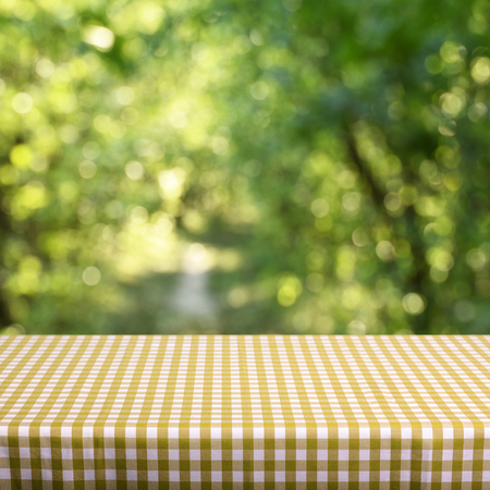 advertising material: Empty table Stock Photo