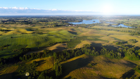 Aerial view of the lakes in Masuria District, Poland