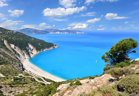 Famous beach Mirtos on Kefalonia island in Greece Stock Photo
