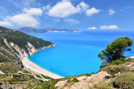 Famous beach Mirtos on Kefalonia island in Greece Archivio Fotografico