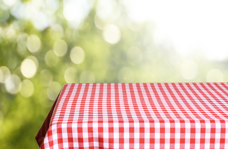 Empty table background Stock Photo