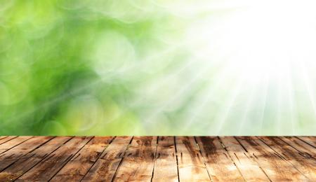 Houten tafel achtergrond Stockfoto