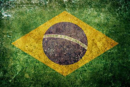 Flagge von Brasilien Standard-Bild - 85439393
