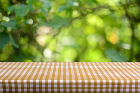 old photo: Empty table background Stock Photo