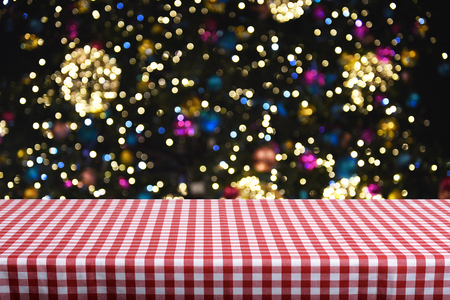 Christmas background table Stock Photo