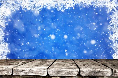 Christmas background table Stock Photo