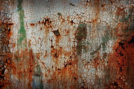 古いさびた金属板の背景 写真素材