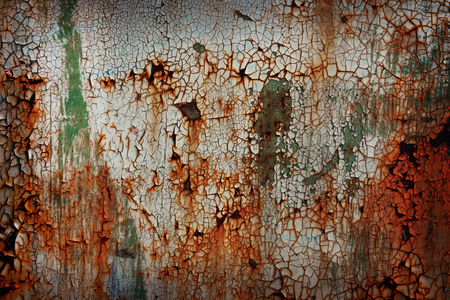 Old rusty metal plate background Imagens