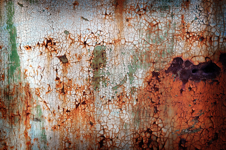 Old rusty metal plate background Stock Photo
