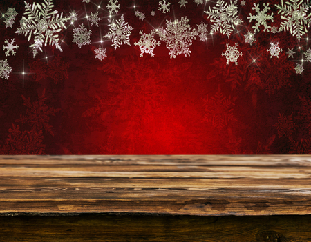 Empty christmas table background