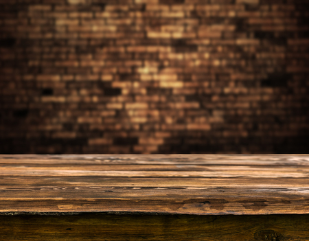 Empty wooden table background 스톡 콘텐츠 - 95105112