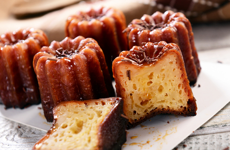 Caneles de bordeaux - traditional French sweet dessert