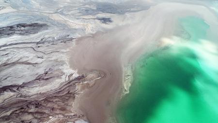 Aerial landscape - Power plant settler Stock Photo